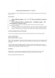 English worksheet: Hard  C /Soft C - Hard G / Soft G