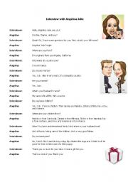 English Worksheets: Interview with Angelina Jolie