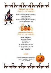 halloween songs and rhyme