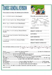 English Worksheet: TENSES - GENERAL REVISION