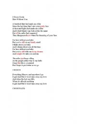 English worksheet: Here without you - 3 Doors Down