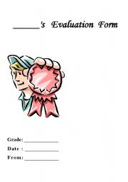 English Worksheets: Student�s Evaluation form