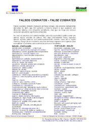 English Worksheets: False cognatos