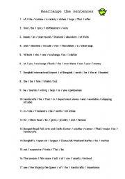English worksheets: Rearrange the sentences