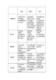 English Worksheet: More Prepositional Verbs