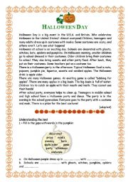English Worksheets: Halloween Day