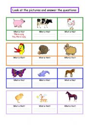 Look at the pictures and answer with - this that - negative and affirmative form