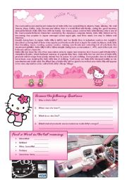 English Worksheet: Hello Kitty