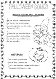 worksheet: HALLOWEEN SONGS