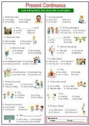 English Worksheets: Questions Present Continuous