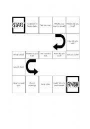 English Worksheets: greeting game