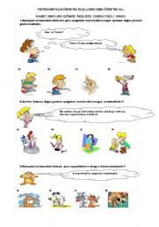 English Worksheet: SBS 8.GRADE  SPOT ON UNIT ONE and TWO