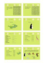English Worksheet: At the zoo
