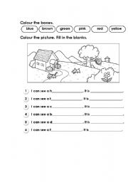English Worksheets: Colouring