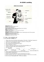 English Worksheets: mr BEAN�s wedding video clip