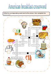 English Worksheets: American brakfast crossword