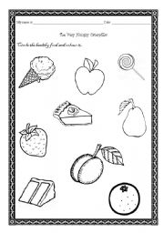 Healthy And Junk Food Worksheets HEALTHY FOODS Evergreen High School ...