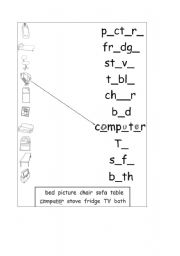 English worksheet: Completing and Matching