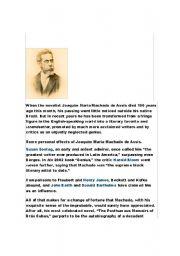 English Worksheets: Machado de Assis