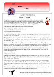 English Worksheet: Dancing with the Devil - Reading comprehension