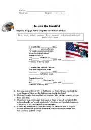 English Worksheet: American Culture