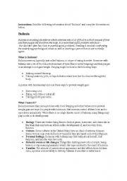English Worksheets: Blulimia