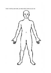 English Worksheets: Body Diagram