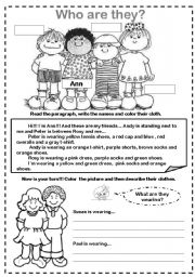English Worksheet: Physical Description