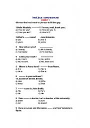 English Worksheets: Question bank