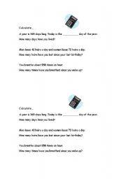 English worksheet: Big Numbers