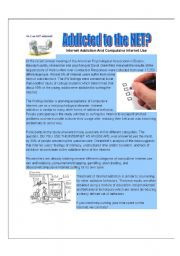 English Worksheets: ADDICTED TO THE NET?????