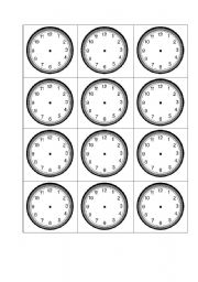 clock face it s blank clock face to teach time teacher or students. Black Bedroom Furniture Sets. Home Design Ideas