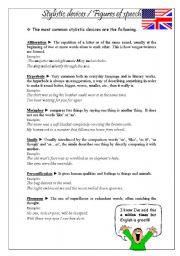 English Worksheets: Stylistic devices