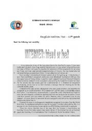 English Worksheet: 3 different tests for the 10th grade