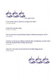English worksheet: tea quotes