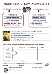 English Worksheet: Simple past or past continuous ?