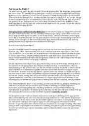 English Worksheets: Anti-aging