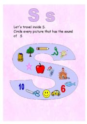 English Worksheets: The sound of the letter S