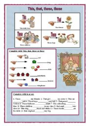 English Worksheets: This, that, these, those