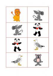 English Worksheets: Animals dominos part1