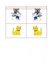 English Worksheets: Animals Dominos part3