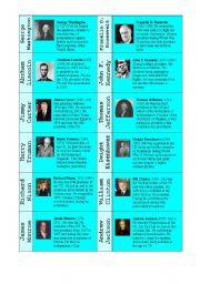 English Worksheet: American Presidents ( GAME )