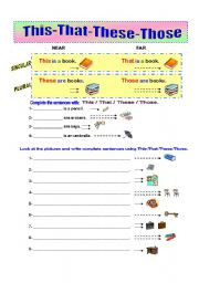 English Worksheet: This-That-These-Those