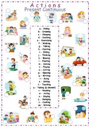 English Worksheets: -ing verbs