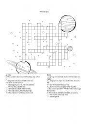 English Worksheets: Solar System Wordsearch