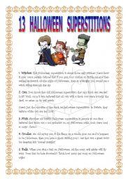 English Worksheet: 13 Halloween superstitions
