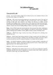 English Worksheets: The littleton massacre