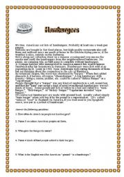 The history of the hamburger