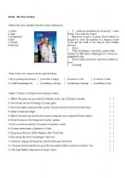 English Worksheets: Movie: The Pink Panther