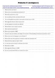 English Worksheet: Malcolm X (webquest)